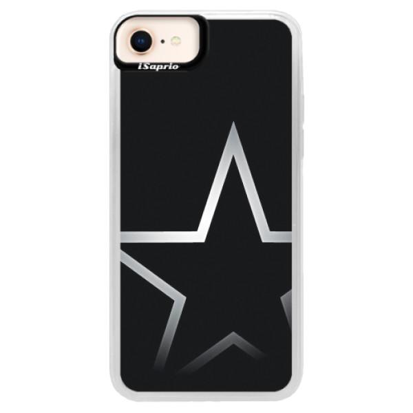 Neonové pouzdro Pink iSaprio - Star - iPhone 8