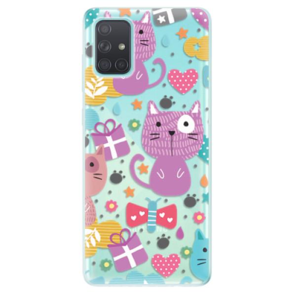 Odolné silikonové pouzdro iSaprio - Cat pattern 01 - Samsung Galaxy A71