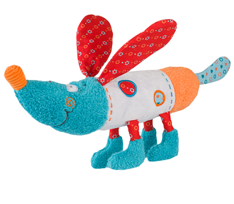 Edukační hračka Baby Ono - chrastítko - Pejsek Bob