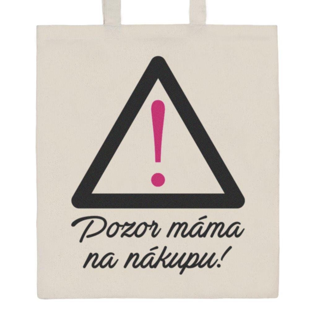Bavlněná nákupní taška s potiskem New Baby - přírodní