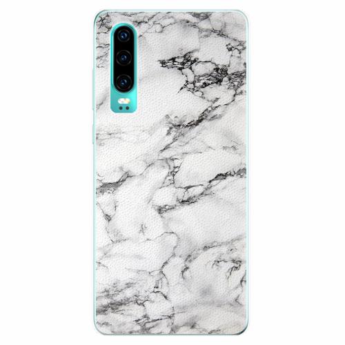 Silikonové pouzdro iSaprio - White Marble 01 - Huawei P30