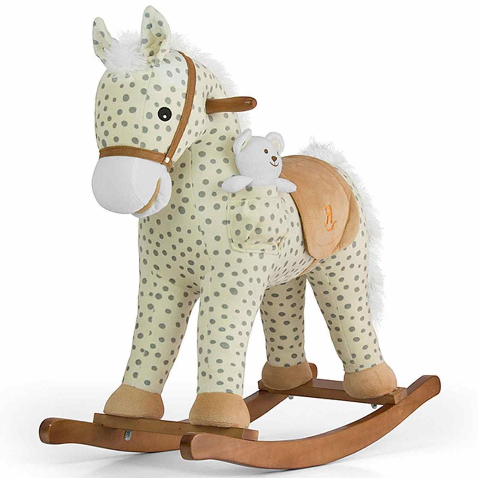 Houpací koník s melodií Milly Mally Pony - Gray Dot - béžová