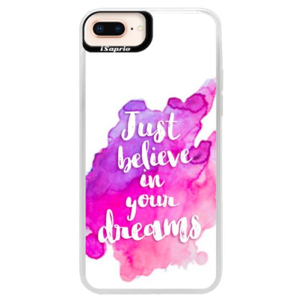 Neonové pouzdro Pink iSaprio - Believe - iPhone 8 Plus