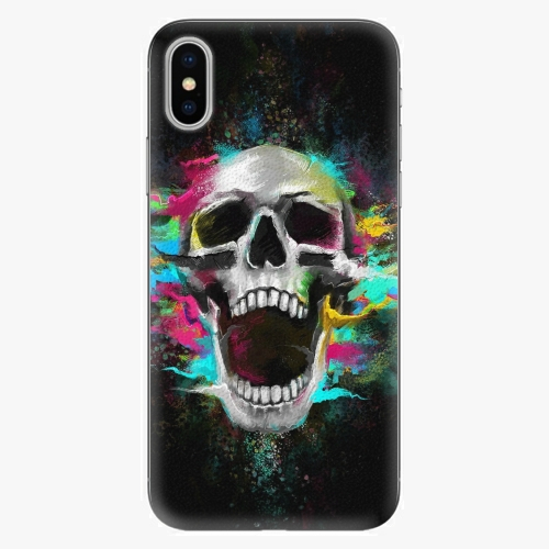 Silikonové pouzdro iSaprio - Skull in Colors - iPhone X