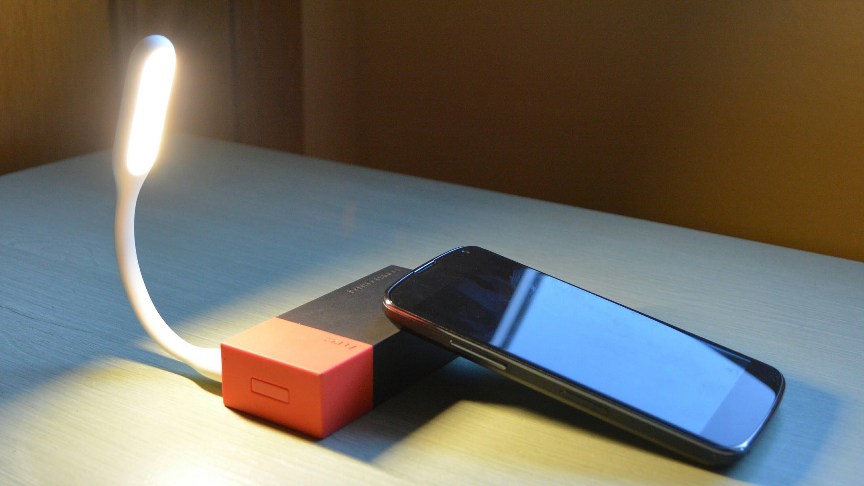 Ohebná USB lampička - Žlutá