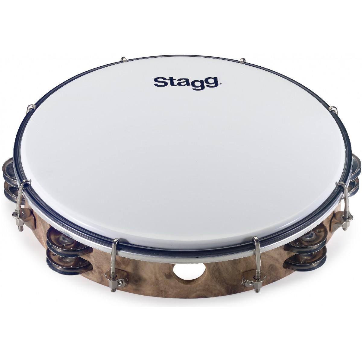 "Stagg TAB-210P/WD, dvouřadá laditelná tamburína, 10"""