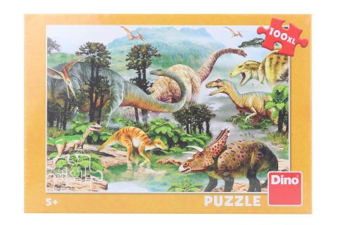 Puzzle Život dinosaurů 100XL