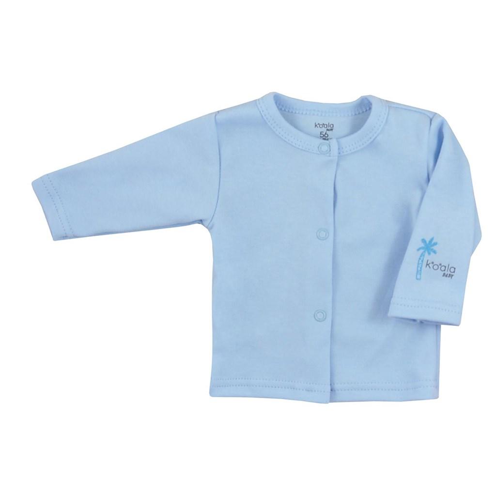 Kojenecký bavlněný kabátek Koala Farm - modrá/74 (6-9m)
