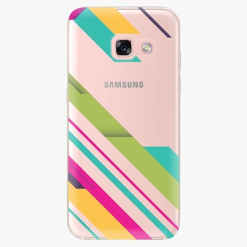 Plastový kryt iSaprio - Color Stripes 03 - Samsung Galaxy A3 2017
