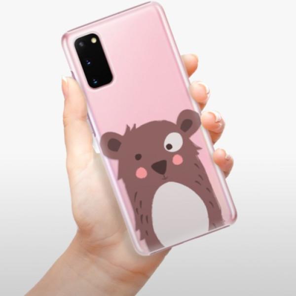 Plastové pouzdro iSaprio - Brown Bear - Samsung Galaxy S20