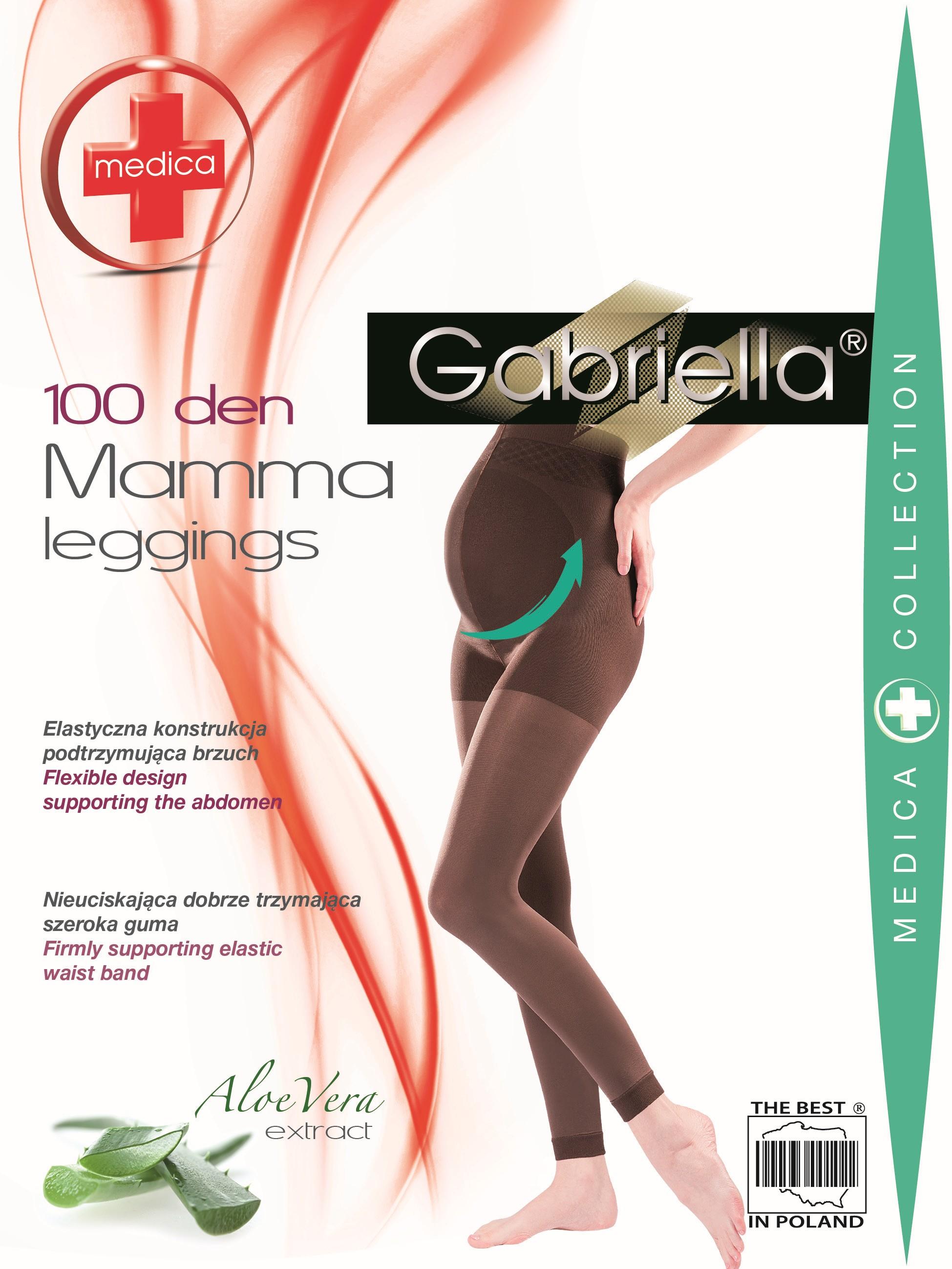 Punčochové kalhoty Mamma 174 Medica 100 Den - Gabriella - Černá/3
