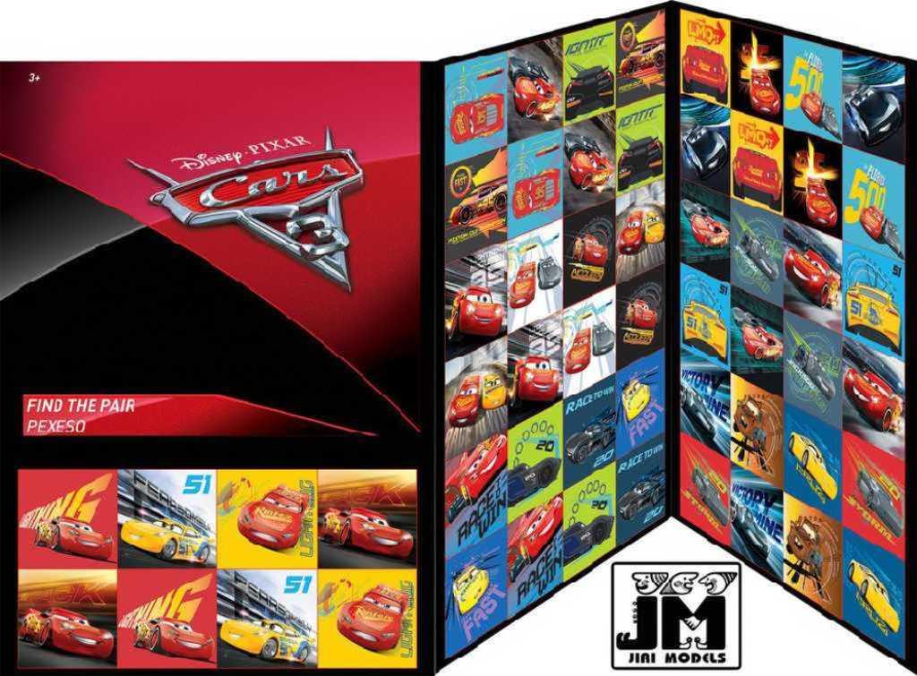 JIRI MODELS Hra pexeso Disney Auta 3 (Cars)