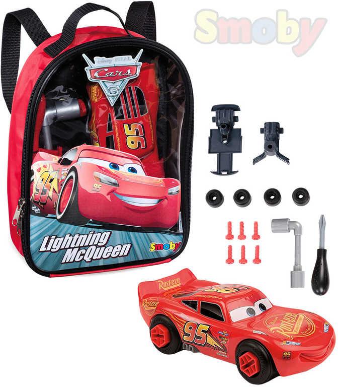 SMOBY Batoh dětský Cars 3 (Auta) set šroubovací autíčko + nářadí k sestavení