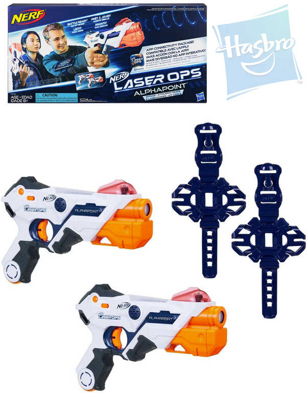 HASBRO NERF Pistole Laser Ops Alphapoint duo blaster 2ks na baterie Světlo Zvuk