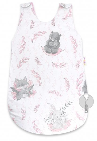 Spací vak Baby Nellys, Lulu natural, 70 cm - růžový