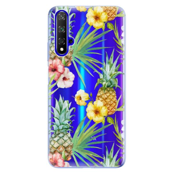 Odolné silikonové pouzdro iSaprio - Pineapple Pattern 02 - Huawei Honor 20