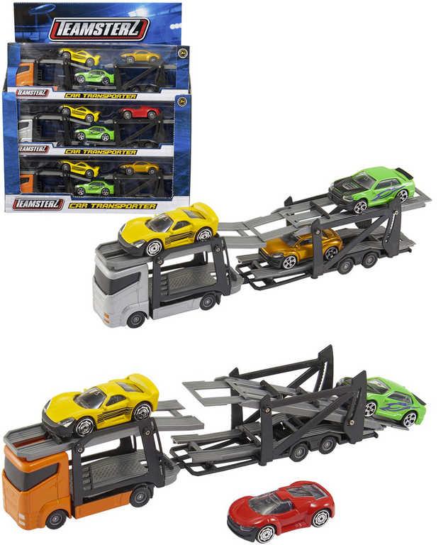 Teamsterz auto nákladní set přepravník se 3 autíčky různé barvy