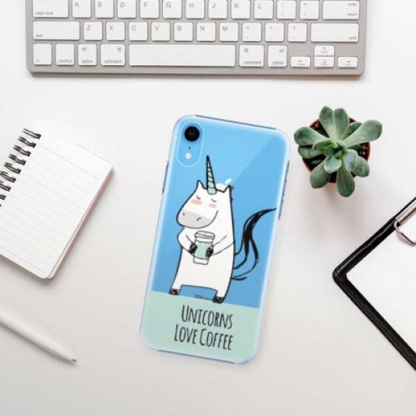 Plastové pouzdro iSaprio - Unicorns Love Coffee - iPhone XR
