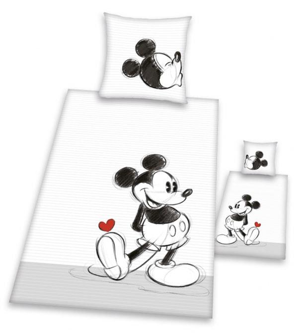 Povlečení Mickey Mouse 2013 černobílá 140/200