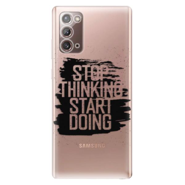 Odolné silikonové pouzdro iSaprio - Start Doing - black - Samsung Galaxy Note 20