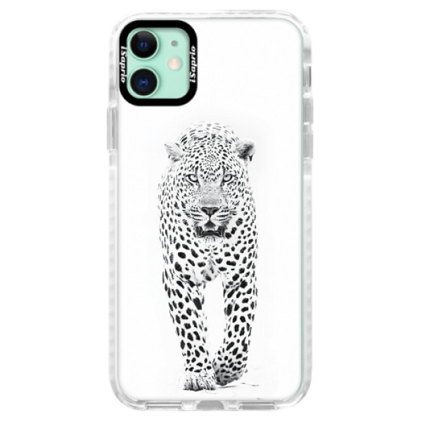 Silikonové pouzdro Bumper iSaprio - White Jaguar - iPhone 11