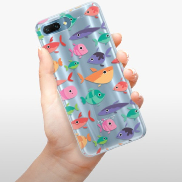 Silikonové pouzdro iSaprio - Fish pattern 01 - Huawei Honor 10