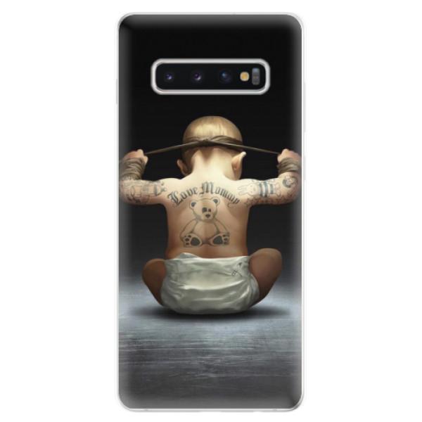 Odolné silikonové pouzdro iSaprio - Crazy Baby - Samsung Galaxy S10+