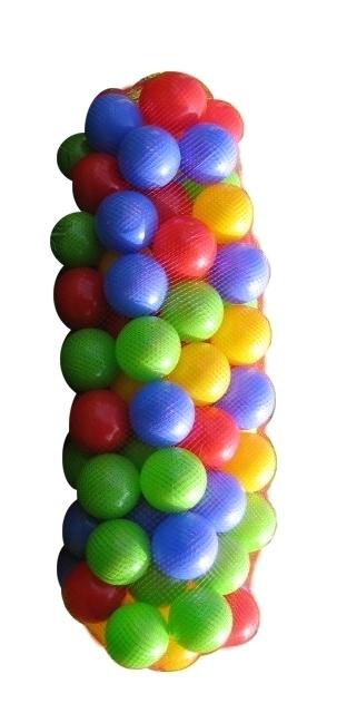 PL Míčky do hracího koutu Do vody Balls 7cm Set 100 ks v síťce