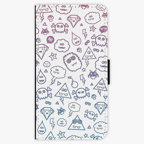 Flipové pouzdro iSaprio - Funny Clouds - Samsung Galaxy J7 2016