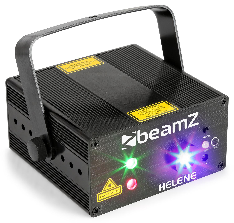 BeamZ Laser Helene Double 230mW RG Multi point, 1x 3W modrá LED, DO