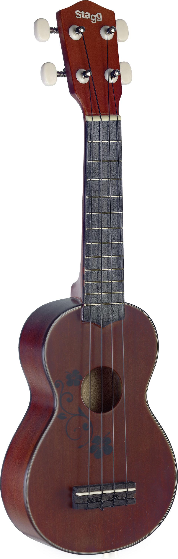 Stagg US20 Flower, sopránové ukulele s květinovým dekorem
