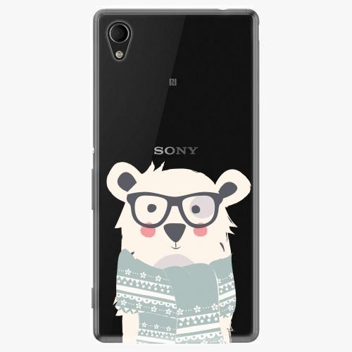 Plastový kryt iSaprio - Bear With Scarf - Sony Xperia M4