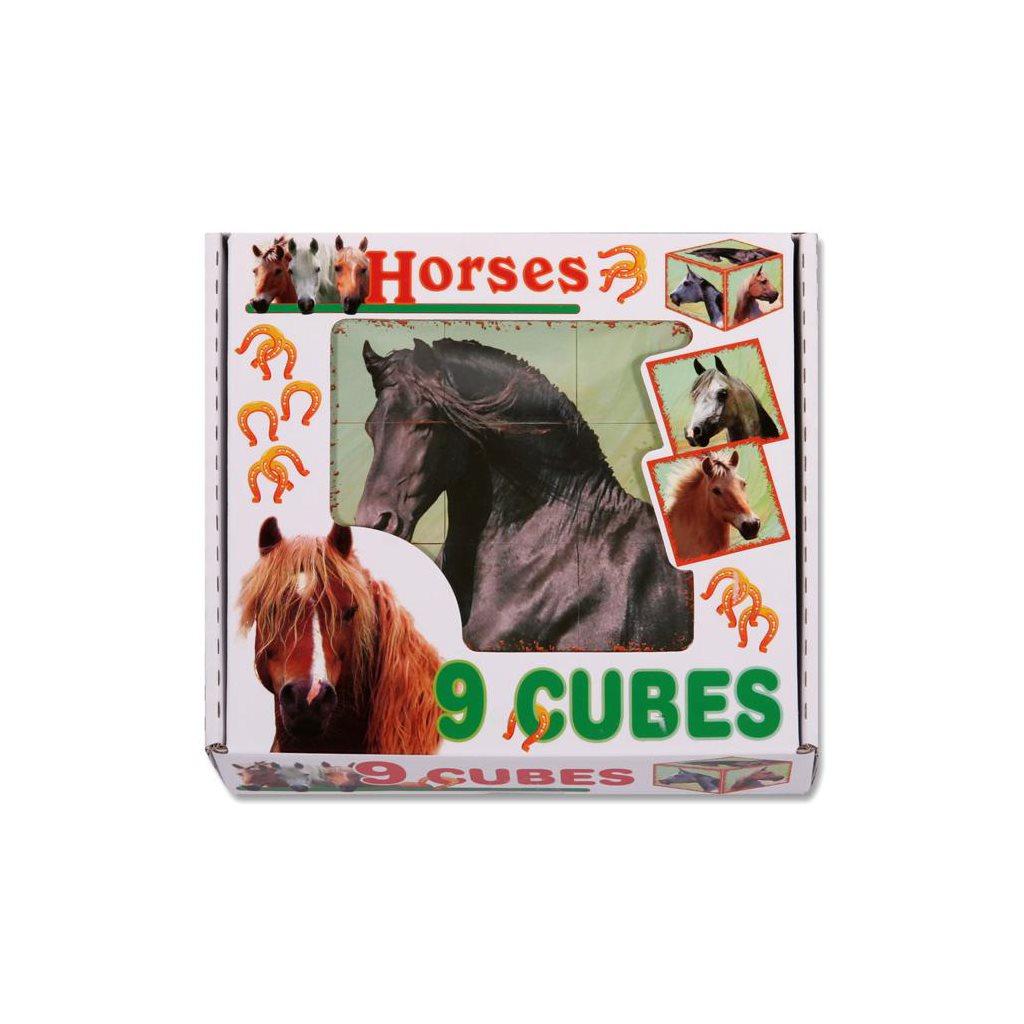Skládací obrázkové kostky Horses - dle obrázku