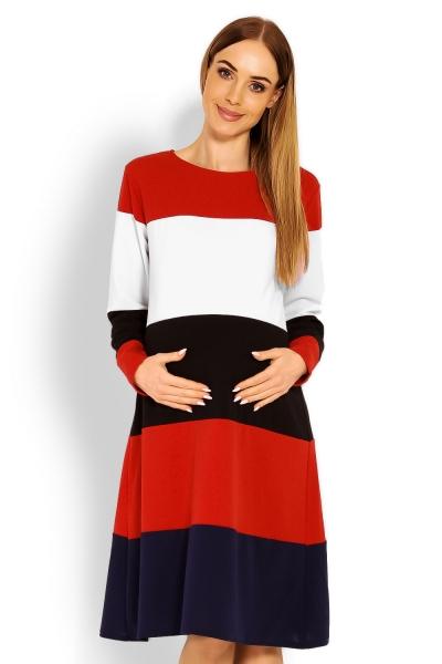 Těhotenské šaty dlouhý rukáv