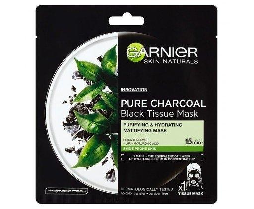 Pure Charcoal černá textilní maska s extraktem zčerného čaje 1x28 g