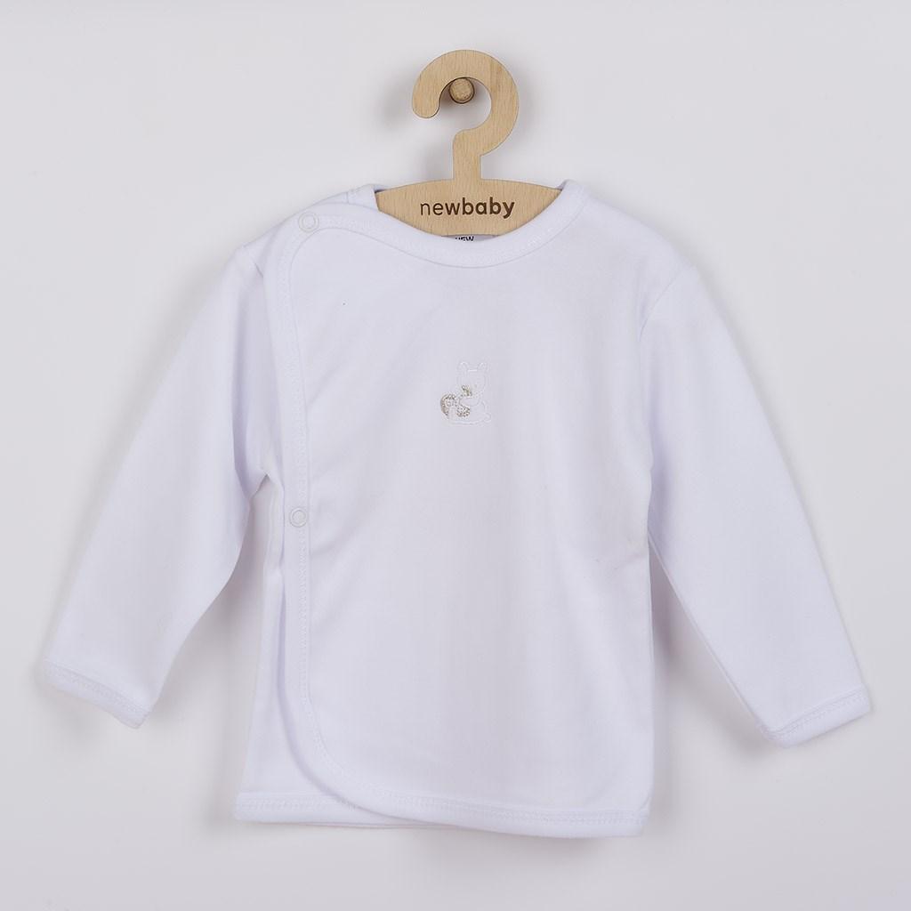 Kojenecká košilka s vyšívaným obrázkem New Baby - bílá/56 (0-3m)