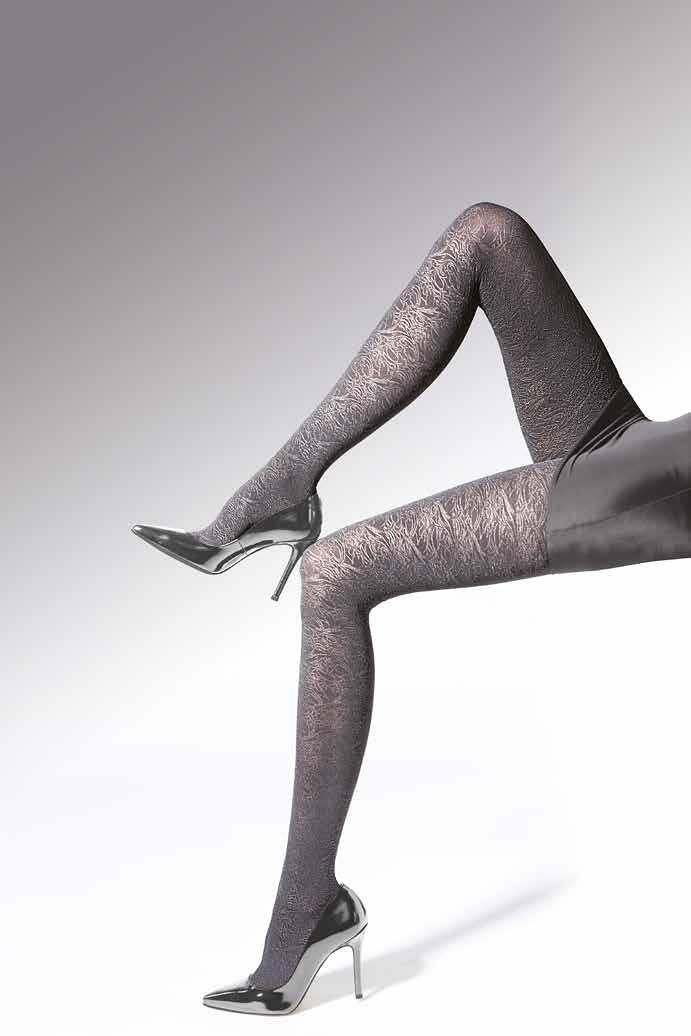Punčochové kalhoty Knittex Noa Luxury 3D 50 den - Okrová/2-S
