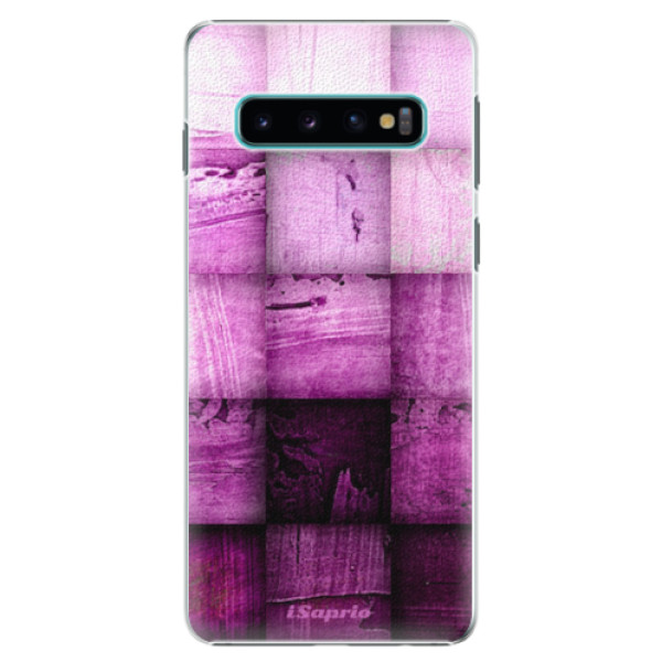 Plastové pouzdro iSaprio - Purple Squares - Samsung Galaxy S10