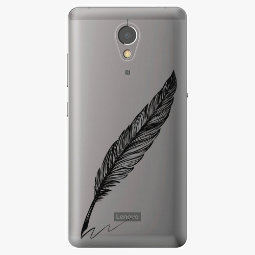 Plastový kryt iSaprio - Writing By Feather - black - Lenovo P2