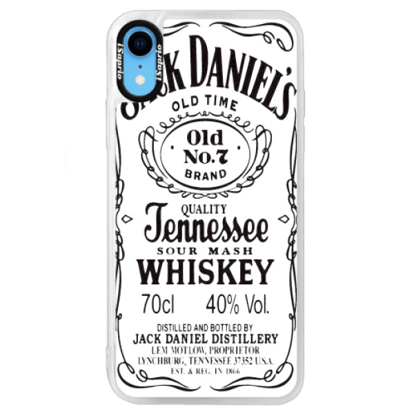 Neonové pouzdro Blue iSaprio - Jack White - iPhone XR