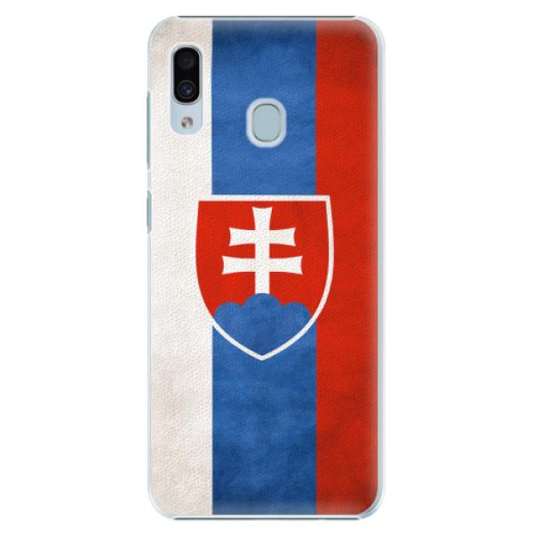 Plastové pouzdro iSaprio - Slovakia Flag - Samsung Galaxy A20