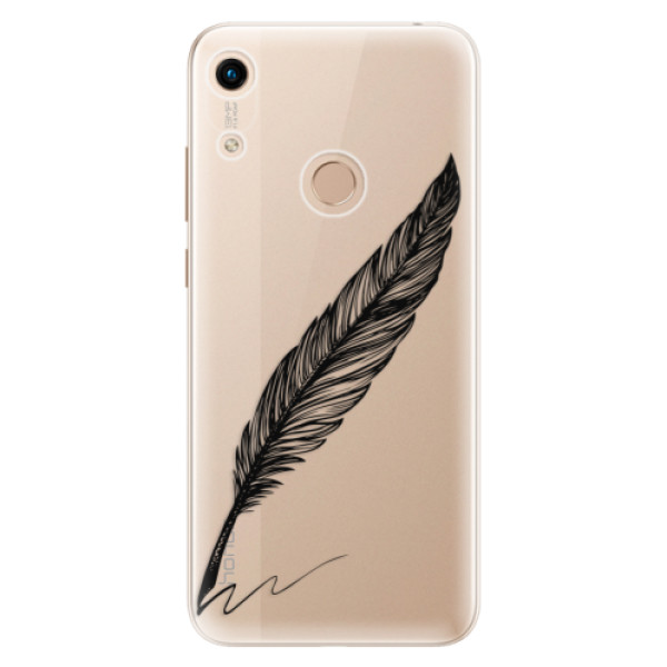 Odolné silikonové pouzdro iSaprio - Writing By Feather - black - Huawei Honor 8A