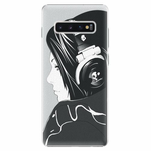 Plastový kryt iSaprio - Headphones - Samsung Galaxy S10+