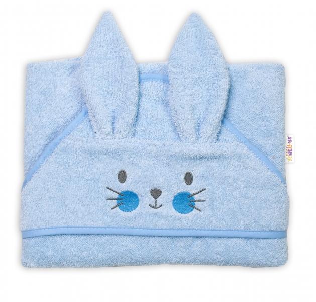 baby-nellys-frote-osuska-s-kapuci-80-x-80-cm-bunny-modra