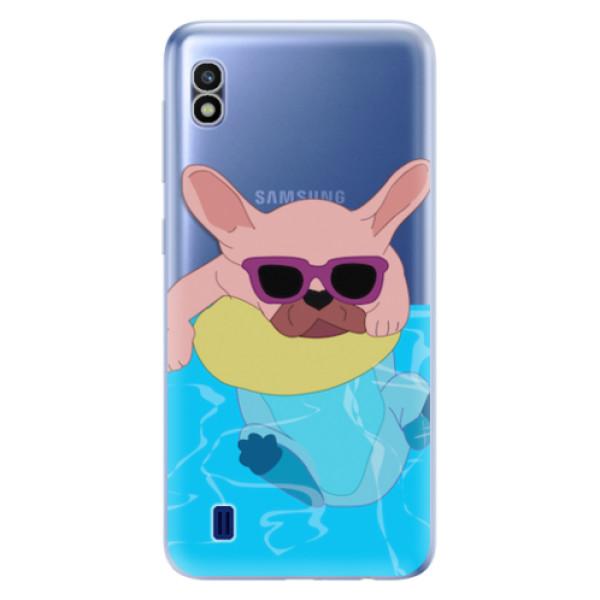 Odolné silikonové pouzdro iSaprio - Swimming Dog - Samsung Galaxy A10