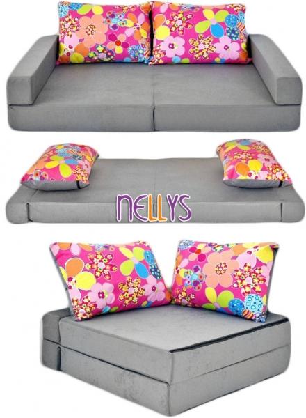 nellys-rozkladaci-detska-pohovka-3-v-1-p05-kvetinky-v-sede