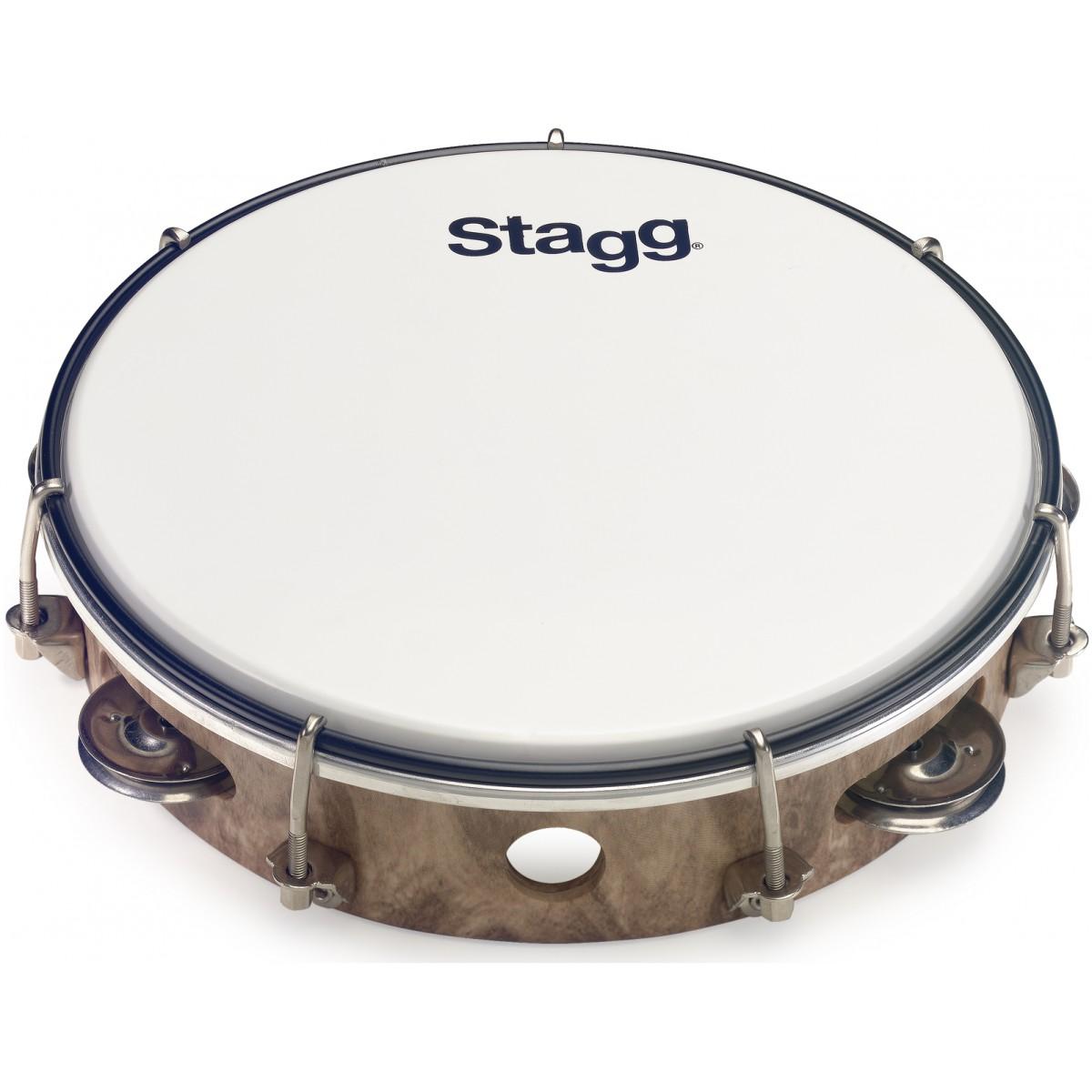 """Stagg TAB-108P/WD, laditelná tamburína s blánou, 8"""""""