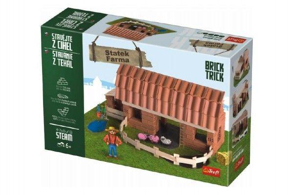 Stavějte z cihel Statek stavebnice Brick Trick v krabici 40x27x9cm