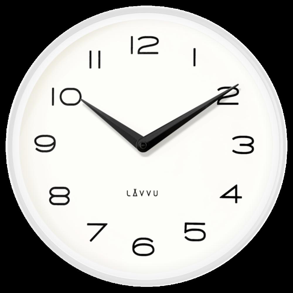 Bílé kovové minimalistické hodiny LAVVU LIVING