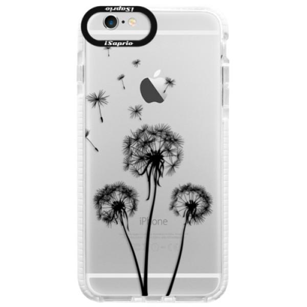 Silikonové pouzdro Bumper iSaprio - Three Dandelions - black - iPhone 6/6S
